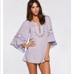 L*Space Breakaway Coverup Tunic Dress in Lavender